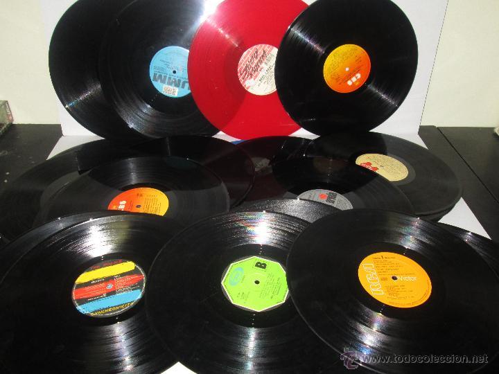 Lote de 50 vinilos sin carpeta ni fundas lp comprar - Decoracion con discos de vinilo ...
