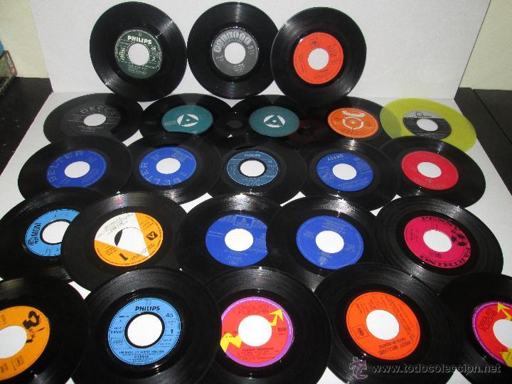 Lote de 50 vinilos sin carpeta ni fundas ep comprar - Decoracion con discos de vinilo ...