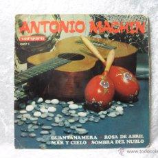 Discos de vinilo: DISCO SINGLE ANTONIO MACHIN - DISCOS VERGARA - GUANTANAMERA. Lote 48628596