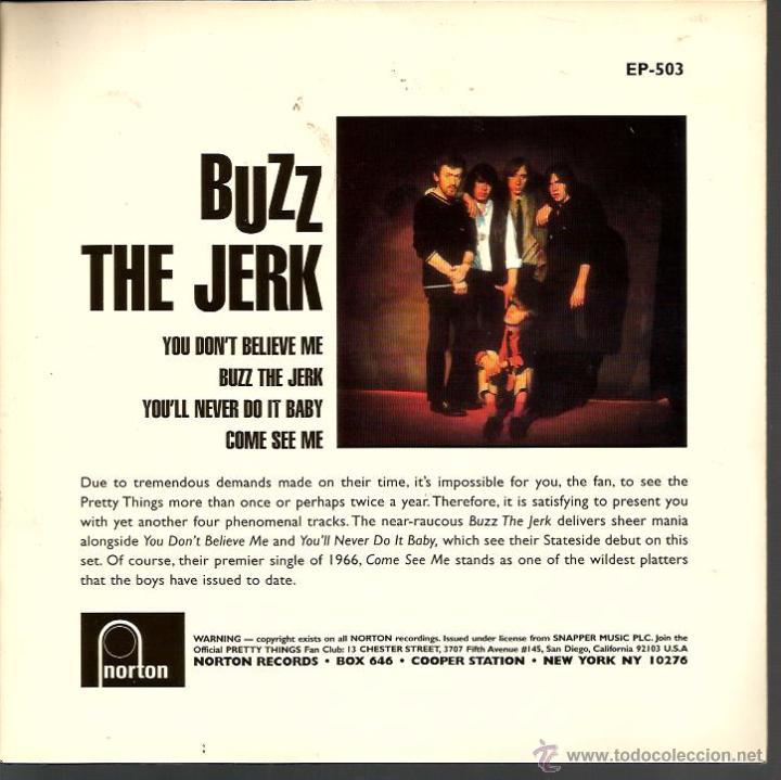 Discos de vinilo: EP THE PRETTY THINGS : BUZZ THE JERK - Foto 2 - 48632066