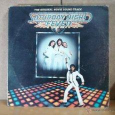 Discos de vinilo: BEE GEES / TAVARES / YVONNE ELLIMAN - SATURDAY NIGHT FEVER - RSO 80021 - 2XLP - 1977. Lote 48632960