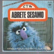 Discos de vinilo: SINGLE DISCO CANCIONES INFANTILES DE TV ABRETE SESAMO CTW BANDA ORIGINAL CAJA AHORROS MANRESA 1976. Lote 48640020