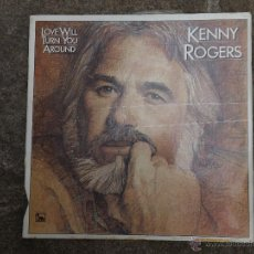 Discos de vinilo: LP KENNY ROGERS. LOVE WILL TURN YOU AROUND.. Lote 48640658