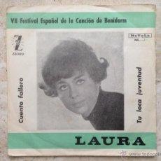 Discos de vinilo: LAURA - CHICA YE YE - TU LOCA JUVENTUD + 1. Lote 48647261