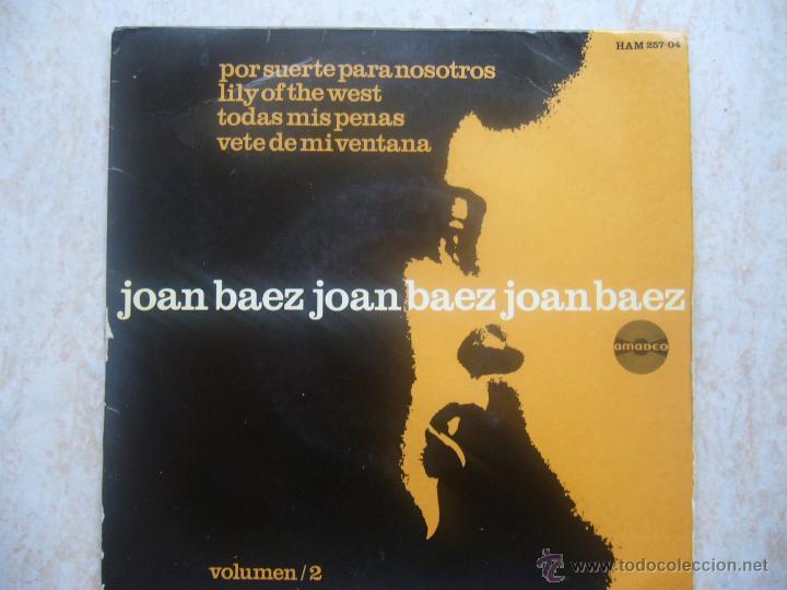 JOAN BAEZ JOAN BAEZ JOAN BAEZ - POR SUERTE PARA NOSOTROS +3 (Música - Discos de Vinilo - EPs - Country y Folk)