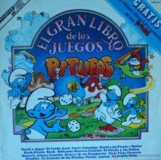 Discos de vinilo: PITUFOS - EL GRAN LIBRO DE LOS JUEGOS - EDICIÓN DE 1981 DE ESPAÑA - DOBLE PORTADA. Lote 48649495