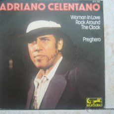 Discos de vinilo: ADRIANO CELENTANO - WOMAN IN LOVE ROCK AROUND THE CLOCK +1. Lote 48649956