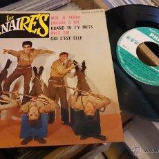 Discos de vinilo: LES MERCENAIRES MOI JE PENSE ENCORE A TOI EP DISCO DE VINILO PHILIPS. Lote 48656440