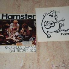 Discos de vinilo: HAMSTER- / RECORDES EMMA? / EM TROBO SOL / FOLK PROGRESIVO-1972-EDIGSA-. Lote 48657295