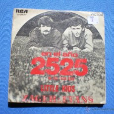 Discos de vinilo: ZAGER & EVANS - EN EL AÑO 2525 / LITTLE KIDS - SINGLE. Lote 48657423