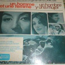 Discos de vinilo: UN HOMBRE Y UNA MUJER B.S.O. - ORIGINAL ESPAÑOL - UNITED ARTOSTS RECORDS 1966 - MONOAURAL. Lote 48657727
