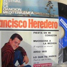 Discos de vinilo: FRANCISCO HEREDERO -EP 1964 -VERGARA. Lote 48659237
