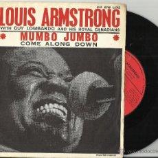 Discos de vinilo: LOUIS ARMSTRONG SINGLE MUMBO JUMBO.FRANCIA. Lote 48680144