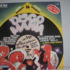 Discos de vinilo: MAGNIFICO LP DE - DISCO MANIA - CON 16 CANCIONES ORIGINALES -. Lote 48681175