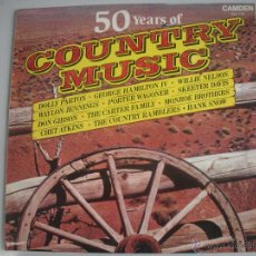 Discos de vinilo: MAGNIFICO LP DE - 50 YEARS OF - COUNTRY - MUSIC -. Lote 48681466