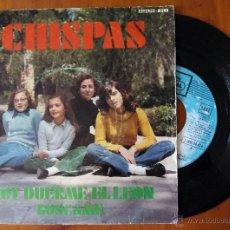 Discos de vinilo: CHISPAS, HOY DUERME EL LEON (EMI REGAL 1972) SINGLE ESPAÑA - ALFREDO DOMENECH. Lote 48688445