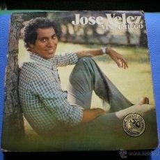 Discos de vinilo: LP JOSE VELEZ-VINO GRIEGO-PORT.ABIERTA-1976. Lote 48691139