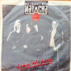Discos de vinilo: BIG TROUBLE WITH NATACHA - LINE OF FIRE . SINGLE . 1990 SUISA . Lote 48697480