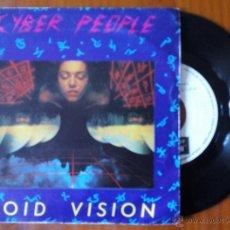Discos de vinilo: CYBER PEOPLE, VOID VISION (BLANCO Y NEGRO 1985) SINGLE PROMOCIONAL ESPAÑA - ITALO DISCO. Lote 48698210