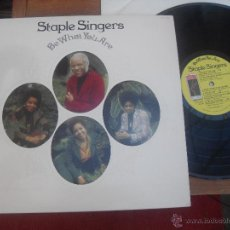 Discos de vinilo: THE STAPLE SINGERS LP BE WHAT YOU ARE MADE IN USA 1973. Lote 48699696
