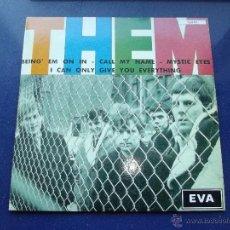Discos de vinilo: RARO EP VAN MORRISON THEM BRING ´EM ON IN EP SINGLE FRANCES EVA RECORDS VINILO VERDE COLECCION. Lote 48701880