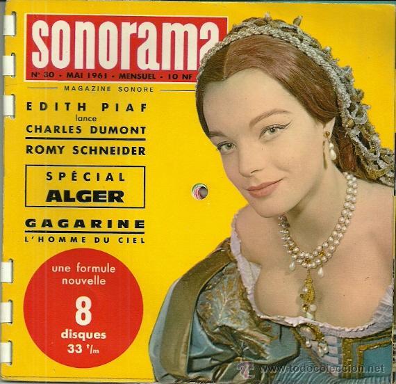 ROMY SCHNEIDER REVISTA SONORAMA EDITADA EN FRANCIA AÑO 1961 18 PAGINAS EDITH PIAF, CHARLES DUMONT (Música - Discos de Vinilo - EPs - Bandas Sonoras y Actores)