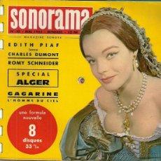 Discos de vinilo: ROMY SCHNEIDER REVISTA SONORAMA EDITADA EN FRANCIA AÑO 1961 18 PAGINAS EDITH PIAF, CHARLES DUMONT. Lote 48704178