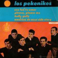 Discos de vinilo: LOS PEKENIKES - EP 7'' - EDITADO EN FRANCIA - PLEASE, PLEASE ME (THE BEATLES COVER-VERSION) + 3. Lote 48710335