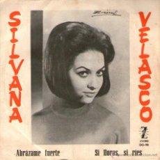 Discos de vinilo: SILVANA VELASCO - SINGLE PROMO 7'' - EDITADO EN ESPAÑA - ABRÁZAME FUERTE + 1 - ZAFIRO 1965. Lote 48710599