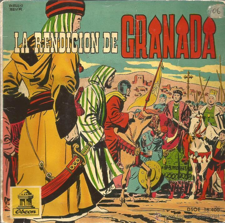 LA RENDICION DE GRANADA (NARRACIÓN HISTÓRICA INFANTIL) SINGLE VINILO ROSA 1960 + COMIC SPAIN (Música - Discos - Singles Vinilo - Otros estilos)