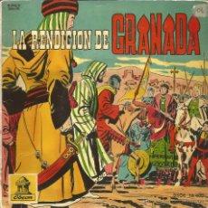 Disques de vinyle: LA RENDICION DE GRANADA (NARRACIÓN HISTÓRICA INFANTIL) SINGLE VINILO ROSA 1960 + COMIC SPAIN. Lote 48715291