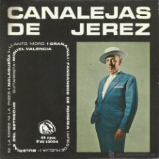 Discos de vinilo: CANALEJAS DE JEREZ-NI LA MIRES NI LA PISES + LLANTO MORO + FANDANGOS DE ROMERIA + BULERÍAS DEL . Lote 48715425