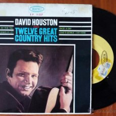 Discos de vinilo: DAVID HOUSTON, TWELVE GREAT COUNTRY HITS (DISCOPHON 1965) SINGLE EP ESPAÑA - UNA VEZ AL DIA + 3. Lote 48717623