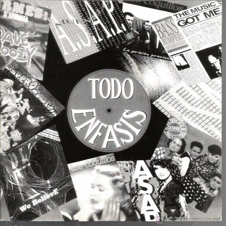 SG TODO ENFASIS - MEGAMIX ( ASAP + DML + DAVE & WOODY + BASS BUMPERS ) PROMO PARA EMISORAS (Música - Discos - Singles Vinilo - Electrónica, Avantgarde y Experimental)