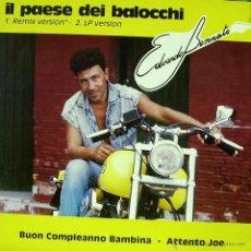 Discos de vinilo: EDOARDO BENNATO-IL PAESE DEI BALOCCHI MAXI SINGLE VINILO 1992 (ITALY). Lote 48734936