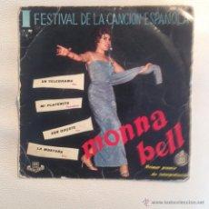 Discos de vinilo: EP MONNA BELL - ESPAÑA 1959. Lote 48735156