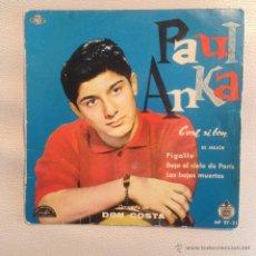 Discos de vinilo: EP PAUL ANKA - ESPAÑA 1960. Lote 48735366