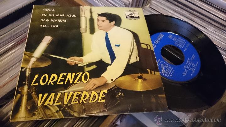 LORENZO VALVERDE SHEILA EP DISCO DE VINILO 7EPL 13921 (Música - Discos de Vinilo - EPs - Solistas Españoles de los 50 y 60)