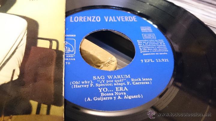 Discos de vinilo: Lorenzo valverde Sheila Ep disco de vinilo 7EPL 13921 - Foto 3 - 48739100