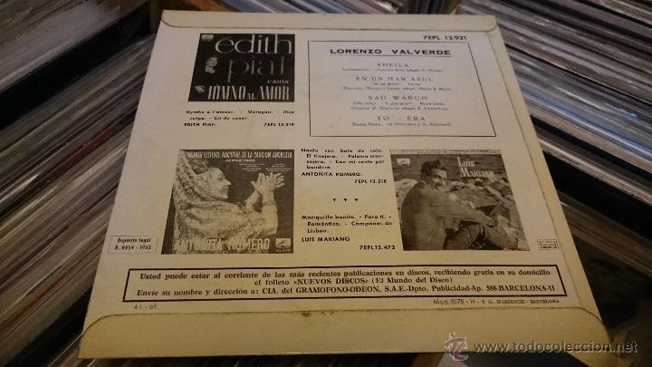 Discos de vinilo: Lorenzo valverde Sheila Ep disco de vinilo 7EPL 13921 - Foto 4 - 48739100