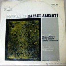 Discos de vinilo: POESIAS DE RAFAEL ALBERTI EN LAS VOCES DE RAFAEL ALBERTI , NURIA ESPERT, ADOLFO MARSILLACH - AGUILAR. Lote 48739304