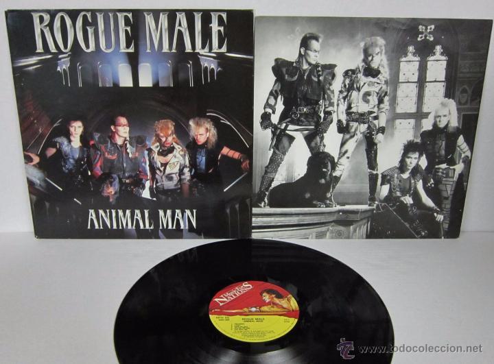 ROGUE MALE - ANIMAL MAN - MUSIC FOR NATIONS 1986 UK - LP - LETRAS (Música - Discos - LP Vinilo - Heavy - Metal)