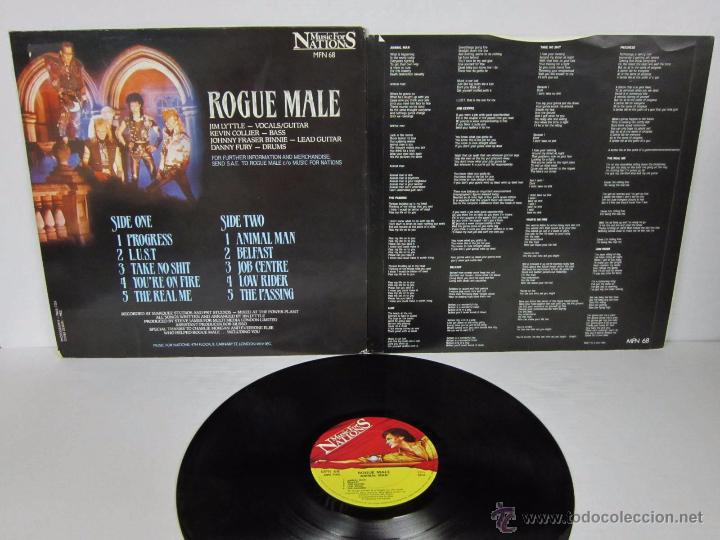 Discos de vinilo: ROGUE MALE - ANIMAL MAN - MUSIC FOR NATIONS 1986 UK - LP - LETRAS - Foto 4 - 48739675