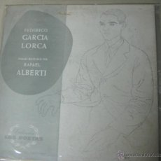 Discos de vinilo: FEDERICO GARCIA LORCA - POEMAS RECITADOS POR RAFAEL ALBERTI - MUCHNIK EDITOR. Lote 48739805