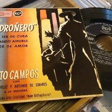 Discos de vinilo: JUANITO CAMPOS EL MADROÑERO POR SER DE CUBA RCA 45 RPM DISCO DE VINILO EP . Lote 48741461