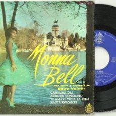 Disques de vinyle: MONNA BELL CON BEBO VALDES CAROLINA DAI + 3 RARO EP HISPAVOX 1961 @ COMO NUEVO. Lote 48742837