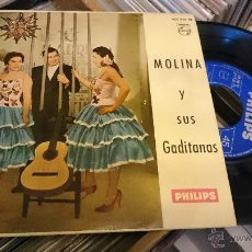 Discos de vinilo: MOLINA Y SUS GADITANAS EL DOS DELANTE EP DISCO DE VINILO PHILIPS . Lote 48756772