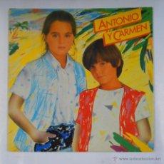 Discos de vinilo: ANTONIO Y CARMEN. HIJOS DE ROCIO DURCAL. TDKDA9. Lote 48757079