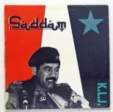 Discos de vinilo: K. L. J. - 'SADDAM' (MAXI SINGLE VINILO. ORIGINAL 1990) - PEDIDO MÍNIMO 8€. Lote 48767790