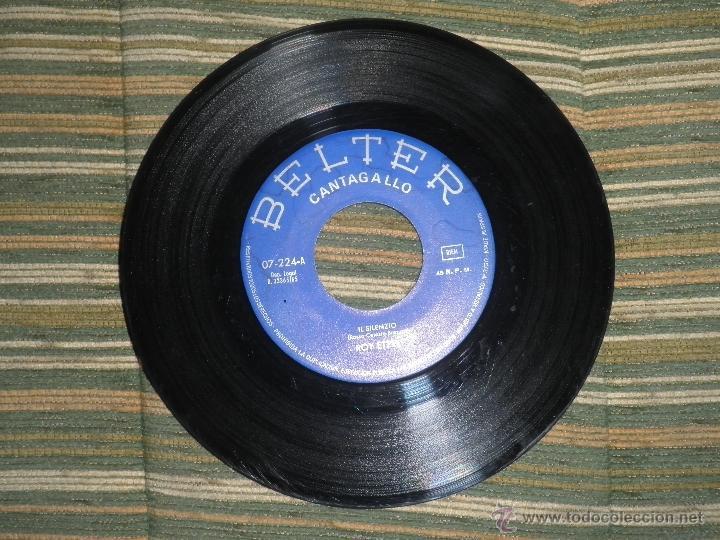 Discos de vinilo: ROY ETZEL - EL SILENCIO SINGLE ORIGINAL ESPAÑOL - - BELTER RECORDS 1965 - MONOAURAL - - Foto 3 - 48768436